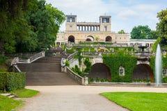 Palacio del naranjal en el parque de Sanssouci fotografía de archivo