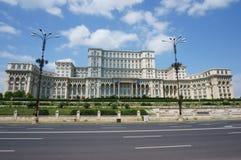 Palacio del parlamento - Bucarest Imagenes de archivo