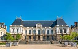 Palacio del parlamento de Bretaña en Rennes, Francia foto de archivo