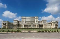 Palacio del parlamento de Bucarest Imagen de archivo libre de regalías