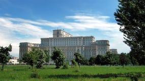 Palacio del parlamento en Bucarest foto de archivo