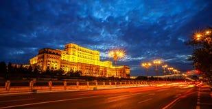 Palacio del parlamento en Bucarest Fotografía de archivo