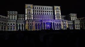 Palacio del parlamento en Bucarest, Rumania Imagen de archivo