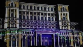 Palacio del parlamento en Bucarest, Rumania Foto de archivo