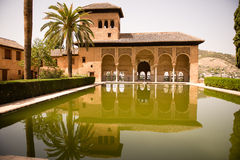 Palacio del Partal Alhambra Stock Photo