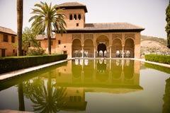 Palacio del Partal Alhambra Стоковое Фото