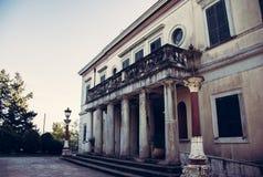 Palacio del Repos de lunes en Corfú Grecia Imagenes de archivo