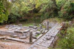 Palacio del Repos de lunes en Corfú Grecia Templo de artemis Fotos de archivo