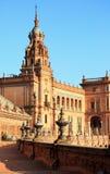 Palacio del `s del rey en cuadrado del `s de España Foto de archivo libre de regalías