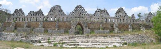 Palacio del ` s del gobernador en Uxmal en México imagen de archivo