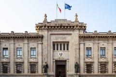 Palacio del Tribunal Penal en la ciudad de Bérgamo imagen de archivo libre de regalías