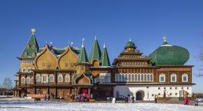 Palacio del zar Alexei Mikhailovich en Kolomenskoye imagenes de archivo