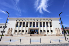 Palacio a Dinamarca Justica (palácio de justiça), o tribunal da cidade de Santarem Imagens de Stock