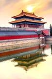 Palacio divino Pekín C de Gugong la ciudad Prohibida de la pureza de la puerta posterior imagenes de archivo