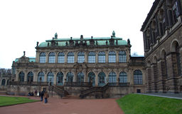 Palacio Dresden de Zwinger Fotos de archivo
