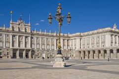 Palacio echt in Madrid Stock Afbeeldingen