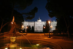Palacio echt Madrid stock afbeelding