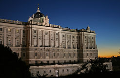 Palacio echt Madrid Royalty-vrije Stock Foto's