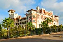 Palacio en Alexandría Fotos de archivo libres de regalías
