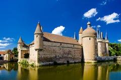 Palacio en Borgoña Fotografía de archivo
