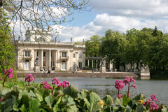 Palacio en el agua Foto de archivo libre de regalías