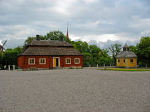 Palacio en el parque de Skansen imagenes de archivo