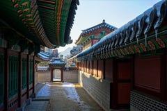 Palacio en la ciudad de Seul, Corea del Sur imagenes de archivo
