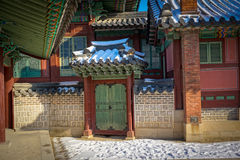 Palacio en la ciudad de Seul, Corea del Sur imagen de archivo libre de regalías
