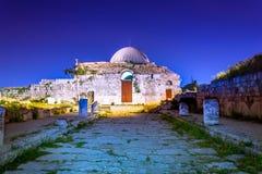 Palacio en la ciudadela de Amman, Jordania de Umayyad fotografía de archivo libre de regalías