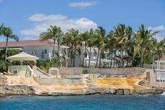 Palacio en la costa Foto de archivo libre de regalías