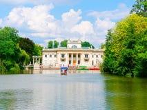 Palacio en la isla El Lazienki real Parque de Lazienki, Varsovia Fotos de archivo libres de regalías