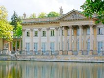 Palacio en la isla El Lazienki real Parque de Lazienki, Varsovia Foto de archivo