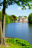 Palacio en la isla en los baños reales parque, Polonia de Warsaw's foto de archivo libre de regalías