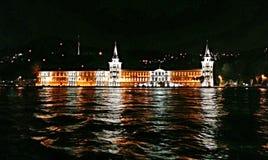Palacio en la noche Imágenes de archivo libres de regalías