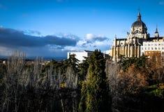 Palacio en Madrid, España Fotos de archivo libres de regalías