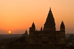 Palacio en Orcha, la India. Imagen de archivo