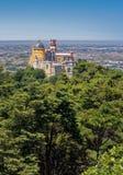 Palacio en Sintra, Portugal de Pena Imagen de archivo