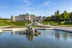 Palacio en verano, Viena, Austria del belvedere Imagen de archivo libre de regalías
