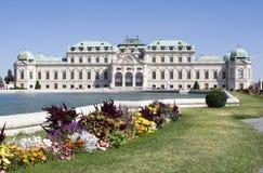 Palacio en Viena Imágenes de archivo libres de regalías