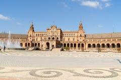 Palacio Espanol在塞维利亚,西班牙 库存图片