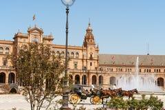Palacio Espanol στη Σεβίλη, Ισπανία Στοκ Φωτογραφίες