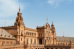 Palacio Espanol i Seville, Spanien royaltyfria foton