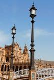 Palacio Espanol, Plac De w Seville Espana Zdjęcie Royalty Free