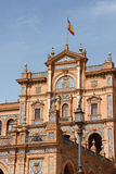 Palacio Espanol, Plaza de Espana in Seville Stock Photography