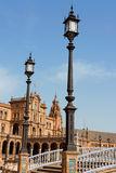 Palacio Espanol, Plaza de Espana in Seville Royalty Free Stock Photo