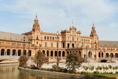 Palacio Espanol w Placu De Espana, Seville Zdjęcia Stock