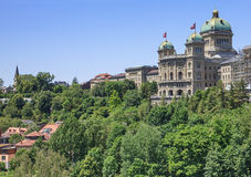Palacio federal de Suiza Fotografía de archivo libre de regalías