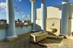 Palacio Ferrer - Cienfuegos, Cuba. Cienfuegos, Cuba - January 11, 2017: Palacio Ferrer, a neoclassical colonial villa in central Cienfuegos, Cuba Stock Images