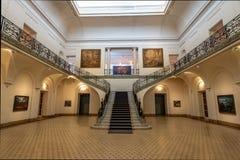 Palacio Ferreyra - Evita Fine Arts Museum Museo Överman de Bellas Artes Evita Interior - Cordoba, Argentina arkivbilder