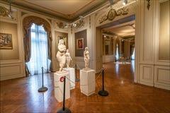 Palacio Ferreyra - Evita Fine Arts Museum Museo Överman de Bellas Artes Evita Interior - Cordoba, Argentina royaltyfria bilder